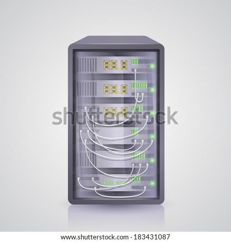 Server icon. Vector - stock vector