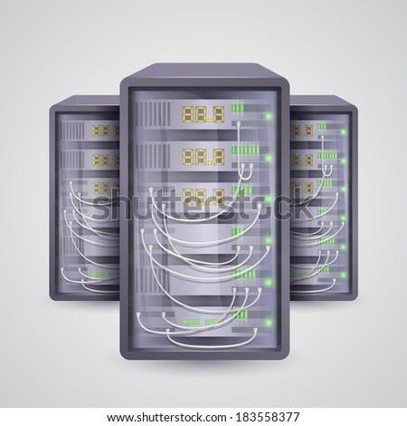 Servers icon. Vector - stock vector