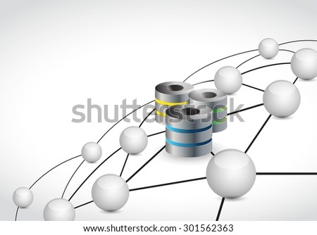 servers link sphere network connection concept illustration design graphic background - stock vector