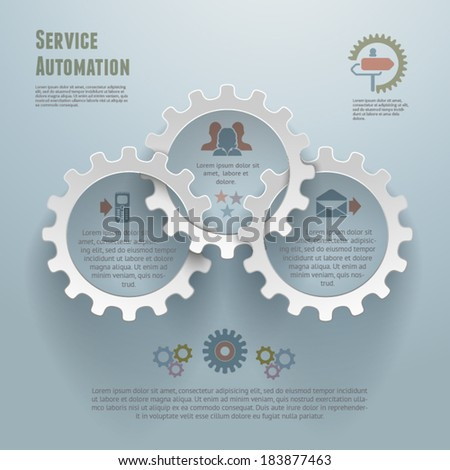 Service Automation Infographic Concept - stock vector