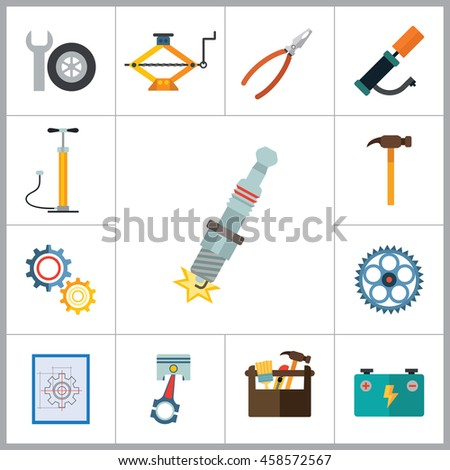 Service Icons Set - stock vector