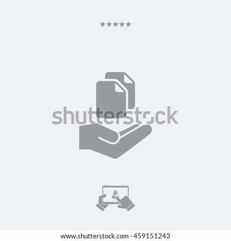 Service offer - Data transfer - Minimal icon - stock vector