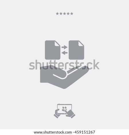 Service offer - File transfer - Minimal icon - stock vector
