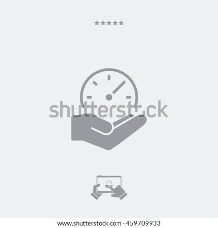 Service offer - High speed performances - Minimal icon - stock vector