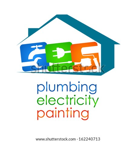 Services for home renovation, design for the vector - stock vector