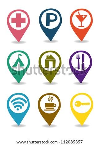 services icon set - stock vector