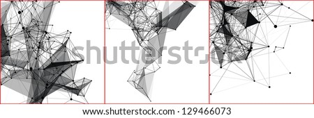Set abstract vector backgrounds of a communication concept. - stock vector