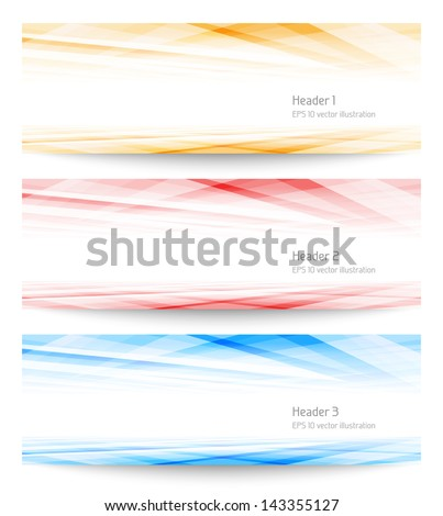 Set banners. EPS 10 vector illustration. Used opacity mask and transparency layers of background - stock vector