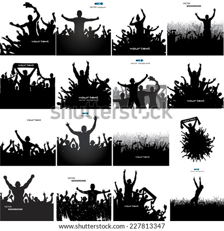 Set banners for sports championships and concerts   - stock vector