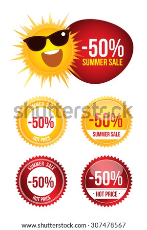 Set Best Discount Labels. Price sign icon. Special offer symbol. Stars stickers. Certificate emblem labels. Vector. Tags. Stickers for sale messages. Commercial elements and badges with sale messages. - stock vector