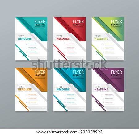 set brochure  template design .editable.book magazine cover. - stock vector
