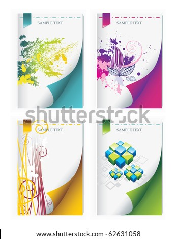 set design of a cover of the brochure - stock vector
