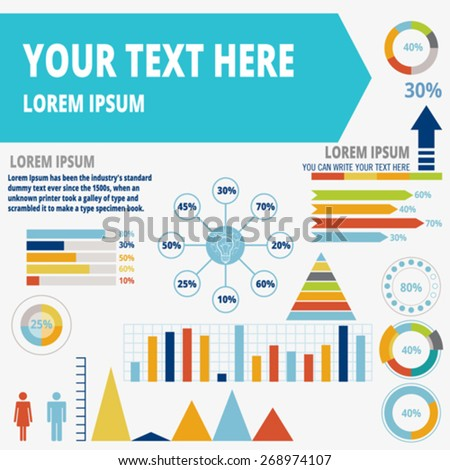 Set elements of infographic. Vector, illustration. - stock vector