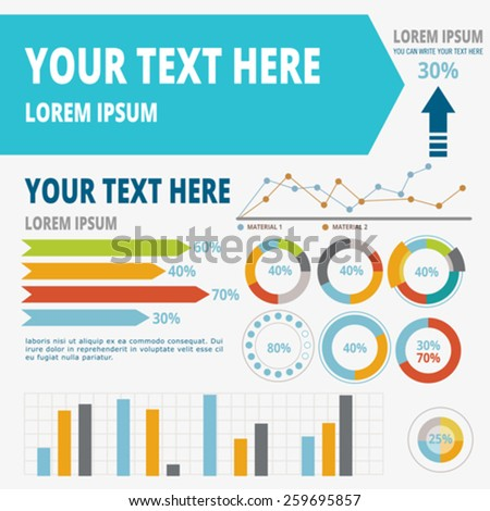 Set elements of infographics. Vector, illustration. - stock vector
