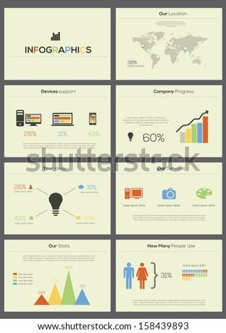 Set elements of infographics. Vector presentation - stock vector