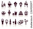 Set food icons, vector illustration - stock vector
