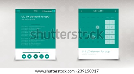 set frame web ui elemants white color. Vector minimalism design - stock vector