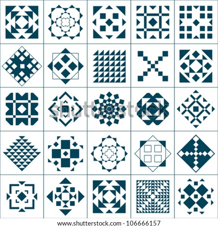 Set geometric patterns - stock vector