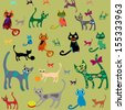 Set isolated vector cats.  - stock vector