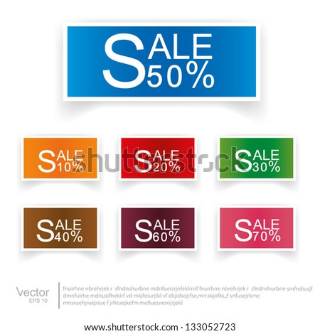 set labels. Vector. - stock vector