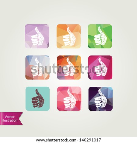 Set like icons isolated.Vector illustration. - stock vector