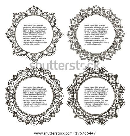 Set Mandala. Round Ornament Pattern - stock vector