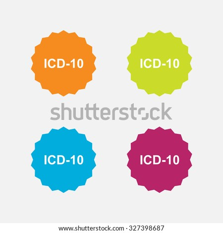 set medical icon code, flat design, rescue, cavity editable vector image - stock vector