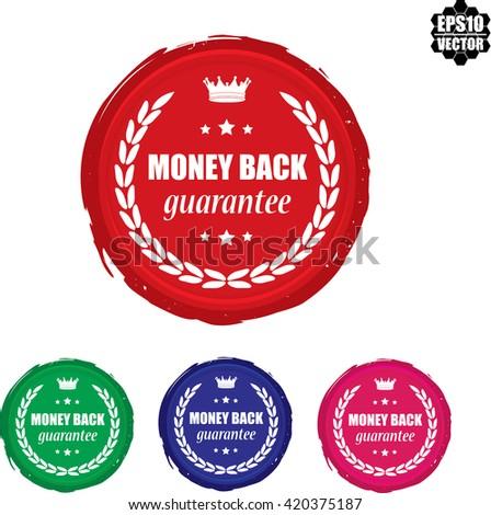 Set 4 Money back stamp.vector - stock vector