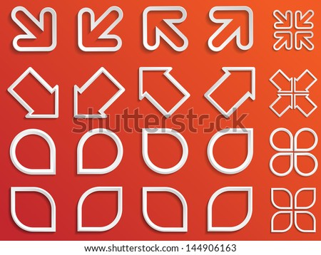 Set of abstract design elements. Vector illustration.  - stock vector
