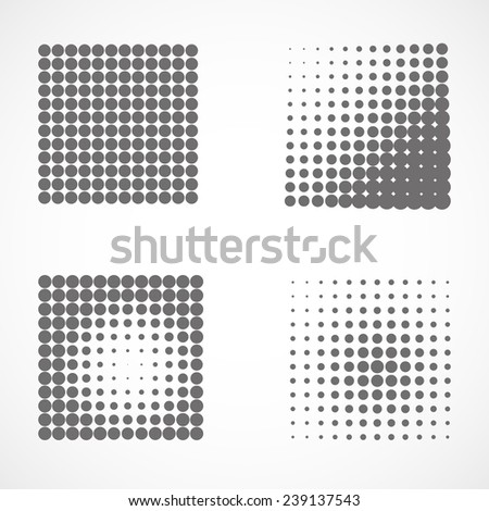 Set of abstract dotted backgrounds - stock vector