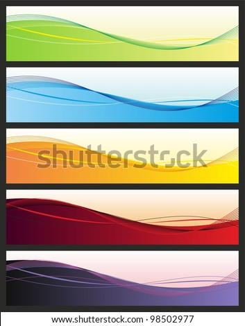 Set of abstract headers - stock vector
