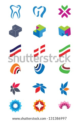 Set of abstract logos. Icons for any type of business. Vector. - stock vector