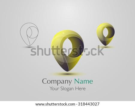 Set of abstract modern logo design. Creative icon. Vector illustration - stock vector