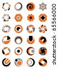 Set of abstract round icons. - stock vector