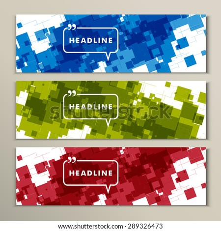 set of abstract squares on a grey background. - stock vector
