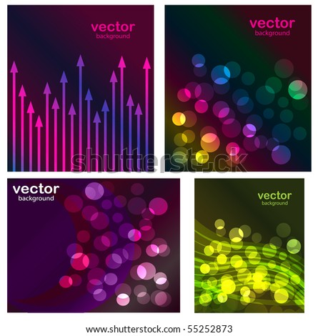 Set of abstract vector backgrounds - stock vector