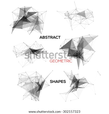 Set of abstract vector geometric shapes. - stock vector