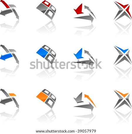 Set of abstract vector icons such logos. - stock vector