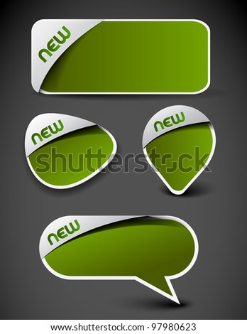 Set of advertisement labels stickers. - stock vector