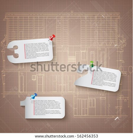 Set of architectural design elements for your business site. Isolated on white background, Vector illustration  - stock vector