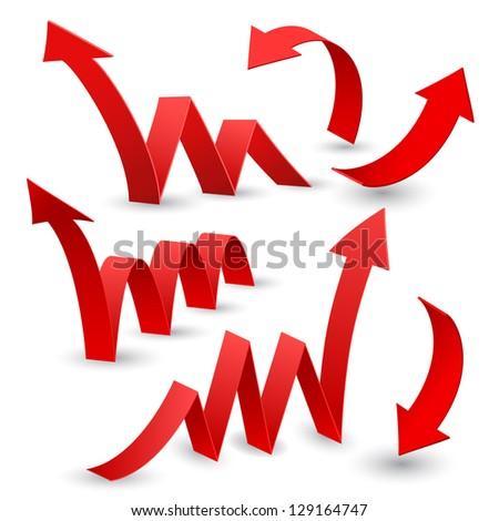 Set of arrow stickers, vector illustration - stock vector