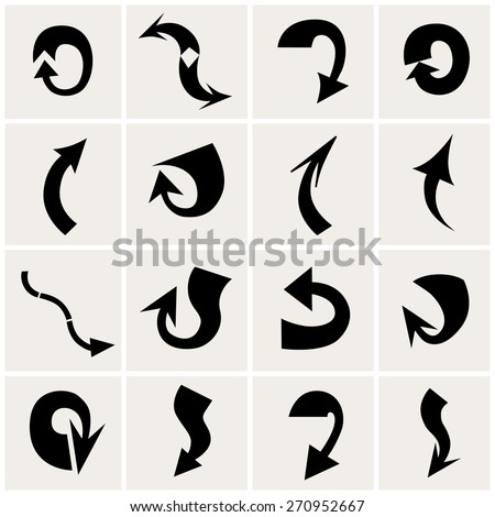Set of arrows. Vector illustration - stock vector