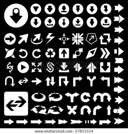 Set of arrows. Vector illustration. - stock vector