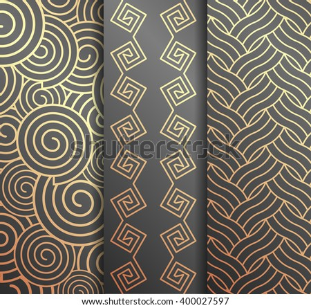 Set of backgrounds - stock vector
