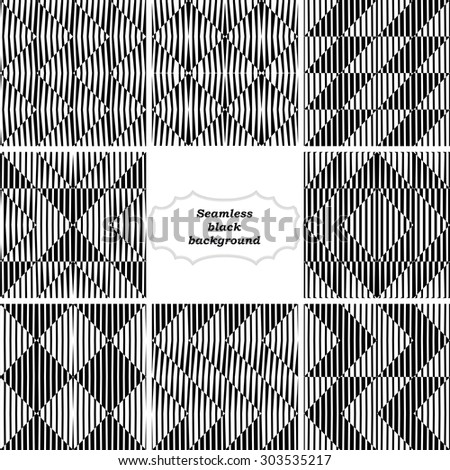 Set of backgrounds with simple lines patterns - stock vector