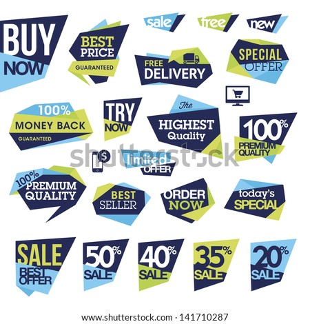 Set of badges and labels for sale - stock vector