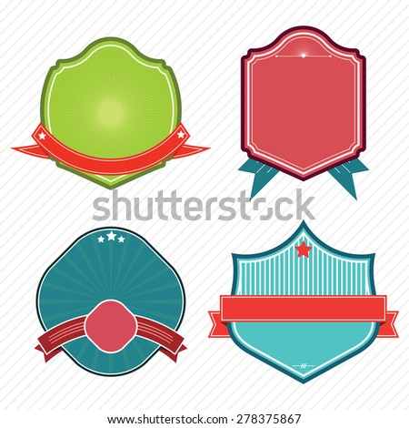 Set of badges ribbons,banner and labels .eps10 - stock vector