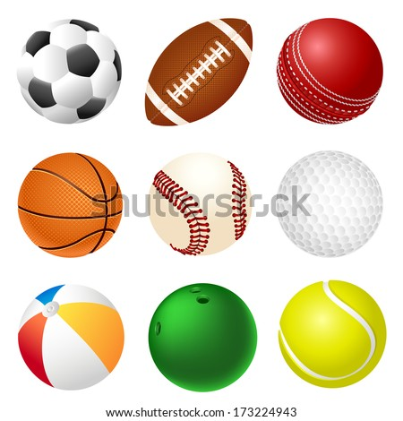 Set of balls - stock vector
