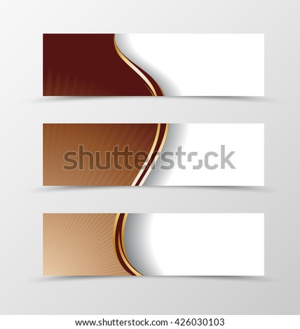 Set of banner design. Banner for header. Design of banner in chocolate style - stock vector
