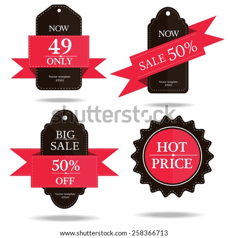 set of banner price tag-vector eps10 - stock vector
